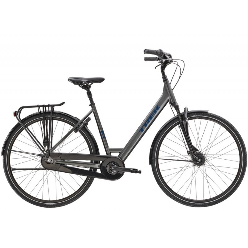 Bicicleta Trek District 2 Equipped Lowstep GRIS S